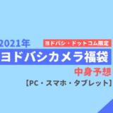 【2021年】ヨドバシカメラ福袋中身予想【PC・スマホ・タブレット類】