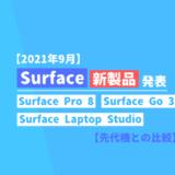 【Surface Pro 8 等】Surface新モデル発表についてまとめ